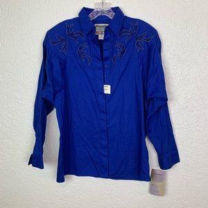 Wrangler vintage NWT shirt blue beaded Size Medium